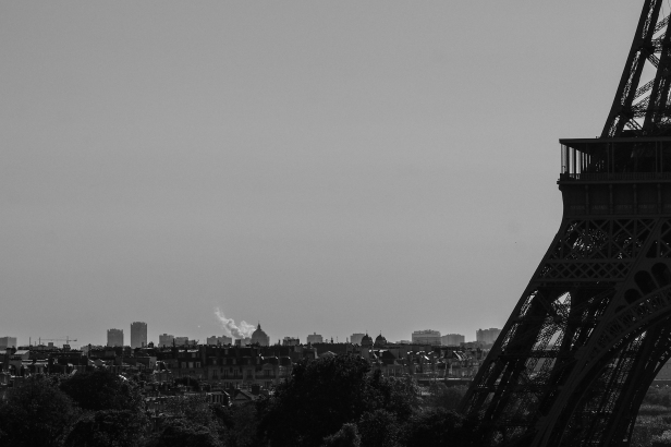 Eiffel Tower in B&W