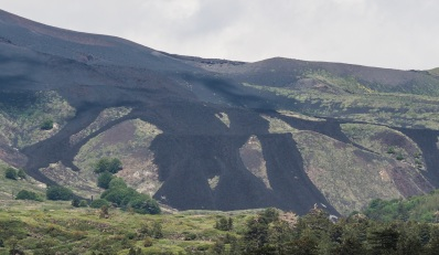 Where the lava flowed during the last big eruption