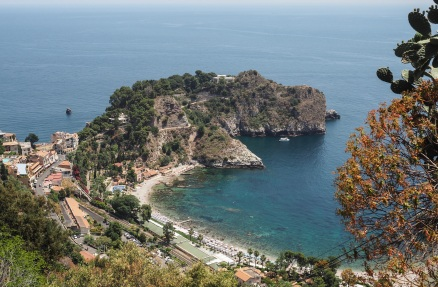 Before our descent - the view from Taormina